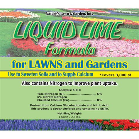 liquid lime  lawn natures lawn  garden