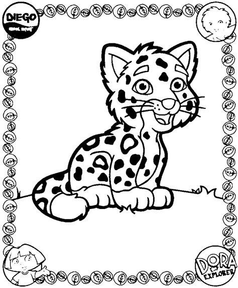 imagenes de bebe jaguar para colorear dessins 224 colorier dora diego amis coloriages pour enfants