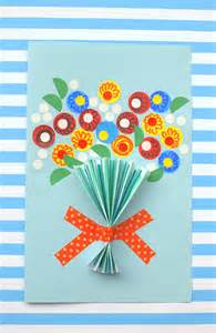 Easy Holiday Crafts For Adults - floral handmade mother s day card diycandy com