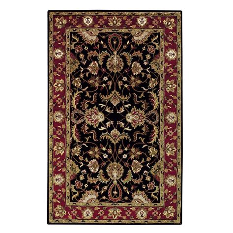 home accents rug collection home decorators collection constantine black 2 ft x 3 ft