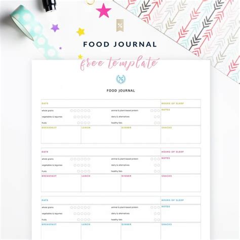 printable food and feelings journal feelings track and fitness tracker on pinterest
