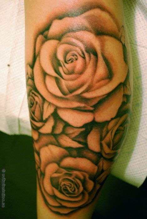 shaded roses tattoos