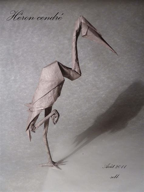 Origami Heron - heron limet s 233 bastien limet h 233 origami free
