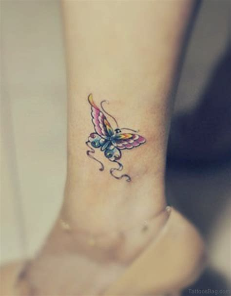 small butterfly foot tattoos 50 fabulous butterfly tattoos on ankle