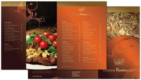 half fold menu template half fold brochure template for bistro restaurant menu order custom half fold brochure design