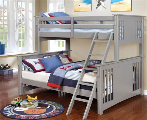 twin xl over queen bunk bed spring creek gray twin xl over queen bunk bed cm bk604gy