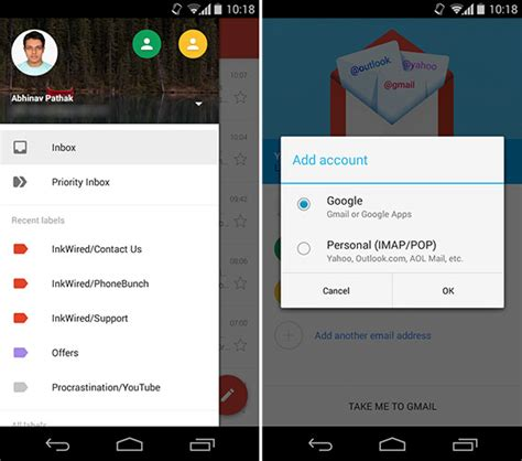 app makeover google gmail updates to v5 0 with material design makeover