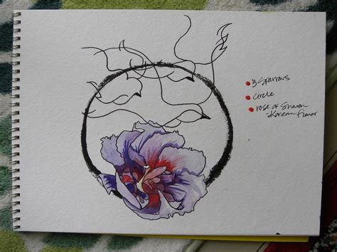 sharon tattoo designs commission design korean flower of and