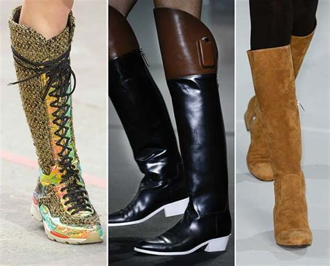 fall winter 2014 2015 shoe trends high boots with low