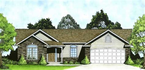 ranch home   bdrms  sq ft house plan   tpc