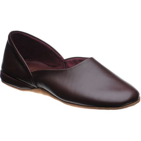 herring slippers church shoes church slippers hermes in wine leather at
