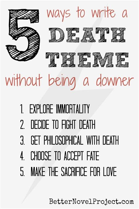 literature themes about death 17 best images about writing on pinterest novels write