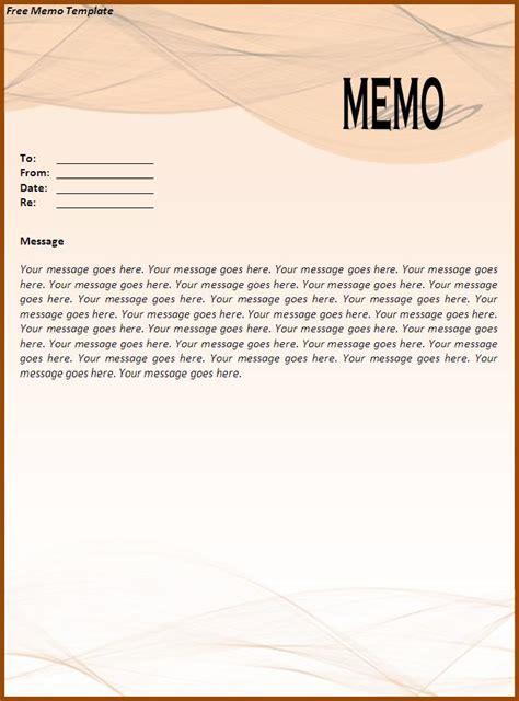 office memo template sample format