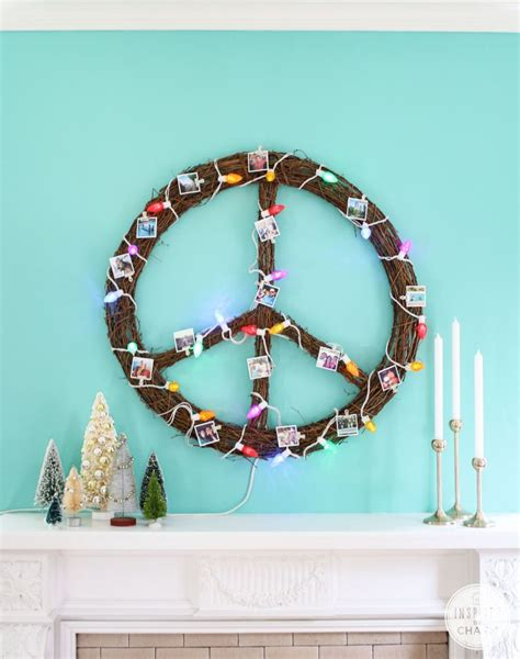 lighted peace sign wreath 17 best images about have a happy kombi christmas on