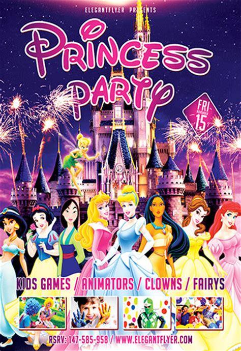 Princess Party Flyer Psd Template By Elegantflyer Disney Flyer Template