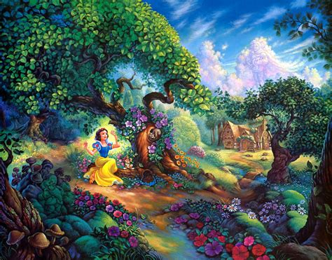 awesome home garden painting share on facebook imagefullycom snow white and the seven dwarfs wallpapers wallpaper cave