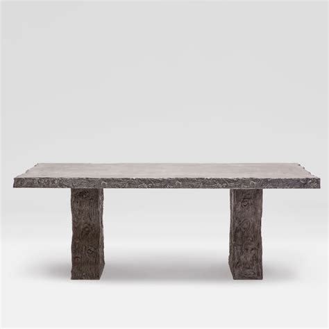 faux bois outdoor concrete dining table mecox gardens