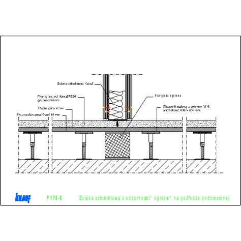 raised floor section raised floor f175 knauf gips kg cad dwg architectural