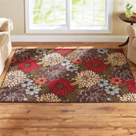 better home and garden rugs better homes and gardens sorbet faux hook floral rug multi color walmart