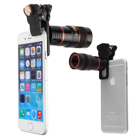 Mobile Phone Telescope Lens 8x Optical Zoom Universal Cl Black 6 universal 8x f1 1 zoom telephoto optical lens mobile cell phone telescope
