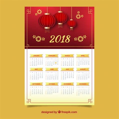calendar  happy chinese  year vector