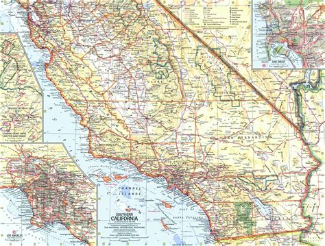 california map geographical national geographic southern california map 1966 maps