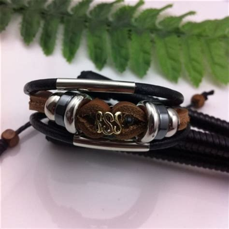 handmade leather bracelet with