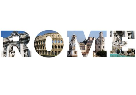 Interior Wall Murals rome photo lettering wall decal italy picture vinyl decor