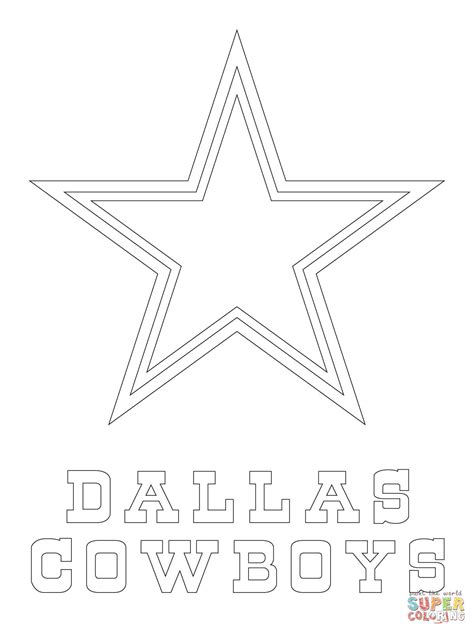 dallas cowboys logo coloring page free printable
