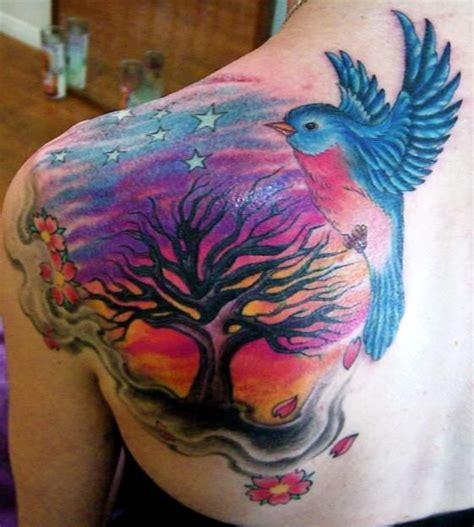 julie becker tattoo clouds cherry blossoms by paul tinnman julie becker