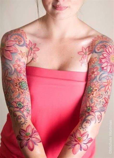 flower tattoo sleeves designs floral sleeve tattoos ideas mag