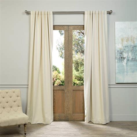 ivory blackout curtains exclusive fabrics furnishings semi opaque egg nog ivory