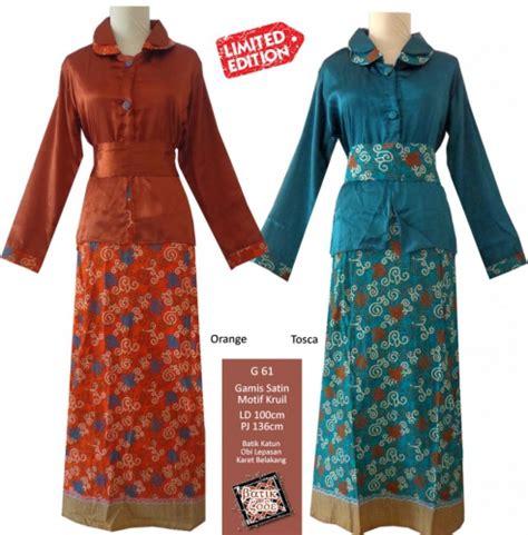 Dress Batik Gaun Batik Terusan Batik Modern Murah 2 17 model baju terusan panjang tanpa lengan elegantria