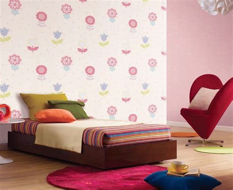 pretty wallpaper for girls bedroom beautiful colorful flower wall decal for girls room