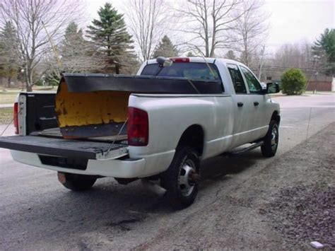 how does cars work 2003 dodge ram 3500 parking system find used 2003 dodge ram 3500 quad cab turbo diesel work truck with plow in litchfield