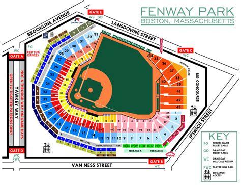 breakdown   fenway park seating chart boston red sox