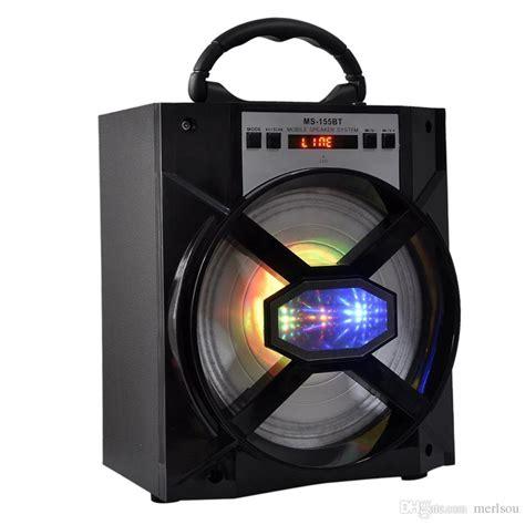 large bluetooth speakers with lights ms 155bt big sound bluetooth speaker led light wooden