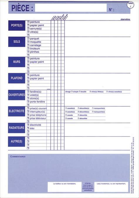 Inventaire Etat Des Lieux Meublé by Modele Etat Des Lieux Local Commercial Document