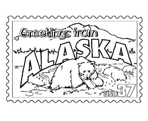 alaska map coloring page printable usa printables alaska state st us states coloring