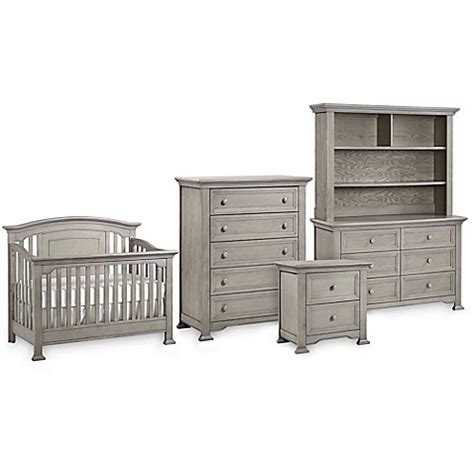 Kingsley Brunswick Nursery Furniture Collection In Ash Gray Nursery Furniture Sets