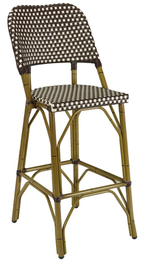 Outdoor Bistro Bar Stools by Rattan Outdoor Bistro Bar Stool W Bamboo Frame