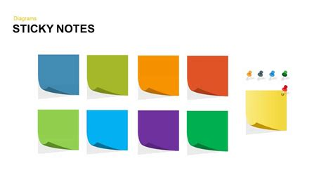 Post It Notes Powerpoint And Keynote Template Slidebazaar Post It Template