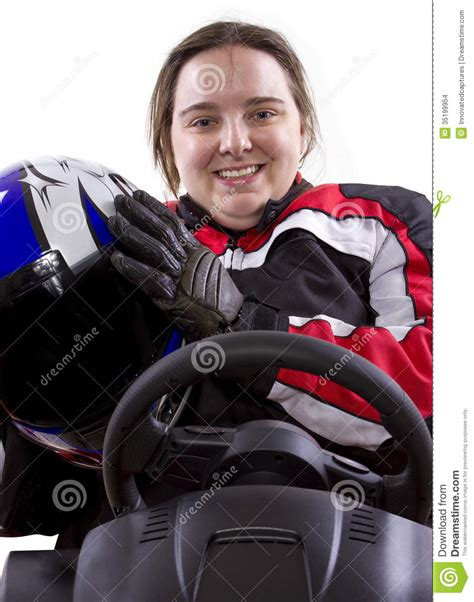 racing driver female racer stock images image 35199954