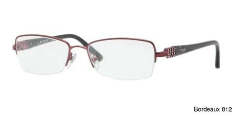 buy vogue vo3813b semi rimless half frame prescription