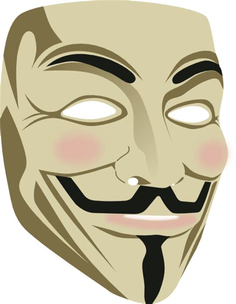 fawkes clipart fawkes mask clip at clker vector clip