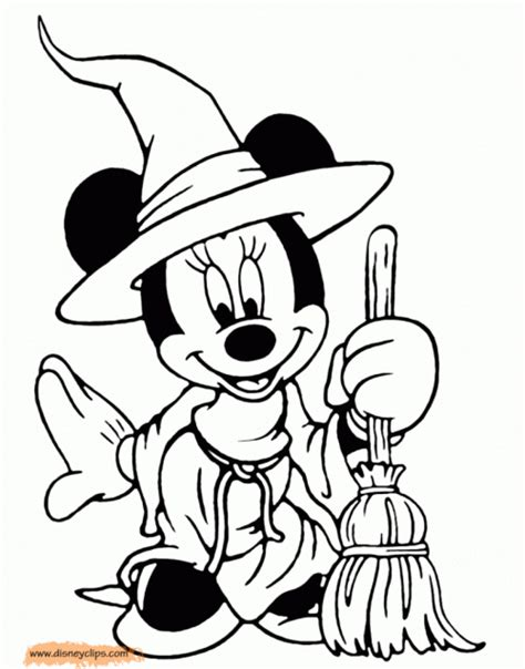 coloring pages mickey mouse halloween minnie mouse halloween coloring pages www kanjireactor com