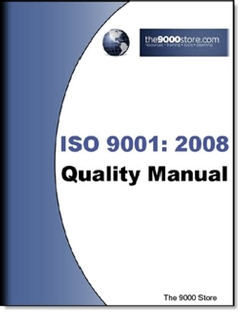 iso 9001 2008 quality manual by the 9000 store digital