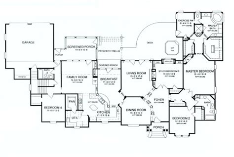 deer run house plan deer run 8440 4 bedrooms and 4 5 baths the house designers