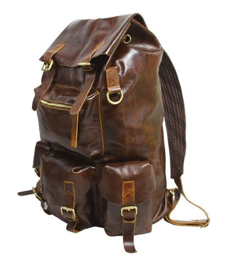 Handmade Backpacks - handmade large superior cow leather backpack travel bag