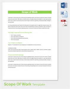 template for scope of work scope of work template 31 free word pdf documents